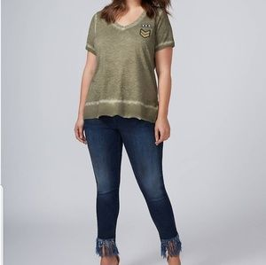 Lane Bryant Military Patch Top